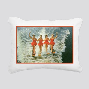 4 waterskiers Rectangular Canvas Pillow